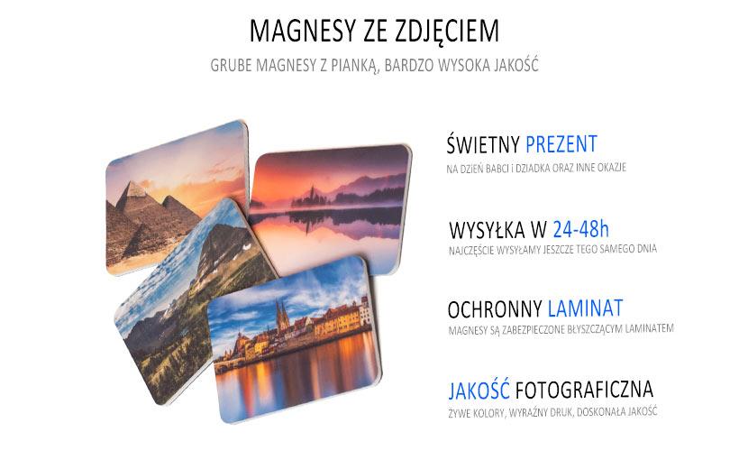 Fantastyczny Magnesy na lodówkę ze zdjęciem, foto magnesy. XS64
